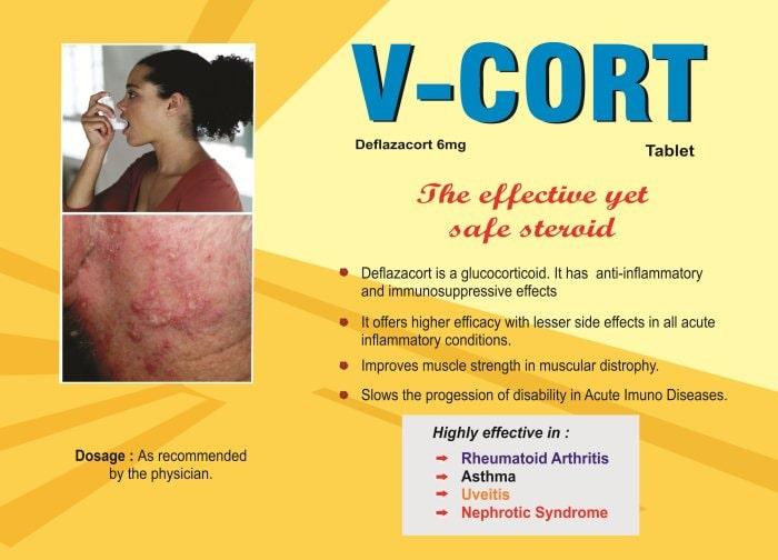 V-CORT-Tablet-Deflazacort-6mg-Vidhyasha-Pharmaceuticals-Best-Pharma-PCD-Franchise-Company