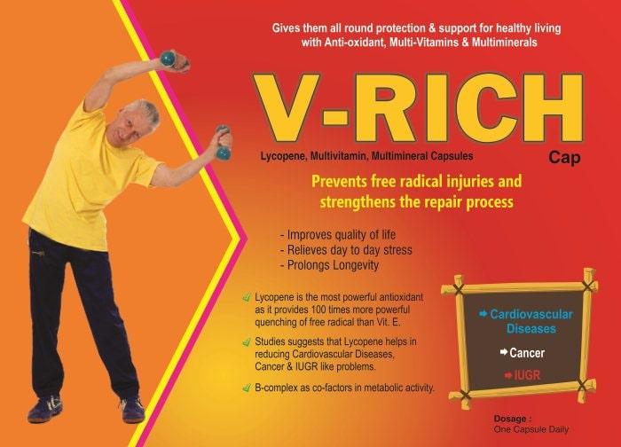 V-Rich-Capsules-Lycopene-Multivitamin-Multimineral-Capsules-Vidhyasha-Pharmaceuticals-Best-Pharma-PCD-Franchise-Company