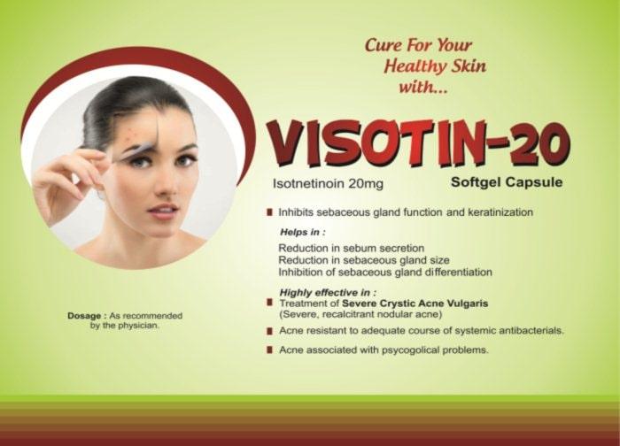VISOTIN-20-Softgel-Capsule-Isotnetinoin-20mg-Vidhyasha-Pharmaceuticals-Best-Pharma-PCD-Franchise-Company