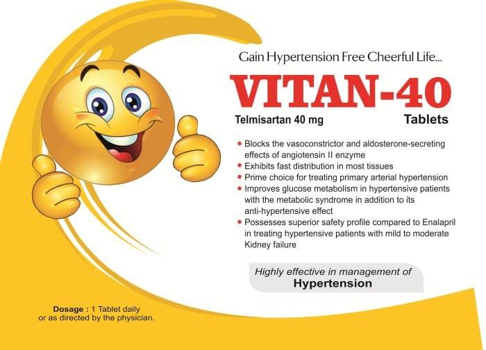 VITAN-40-Tablets-Telmisartan-40mg-Vidhyasha-Pharmaceuticals-Best-Pharma-PCD-Franchise-Company