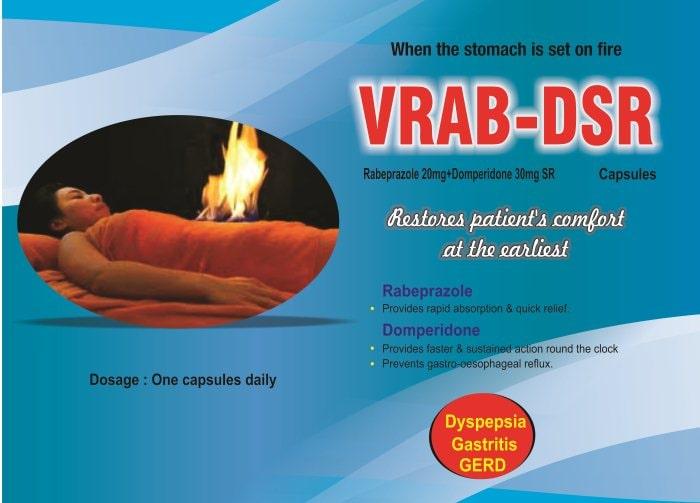 VRAB-DSR-Capsules-Rabeprazole-20mg-Domperidone-30mg-SR-Vidhyasha-Pharmaceuticals-Best-Pharma-PCD-Franchise-Company