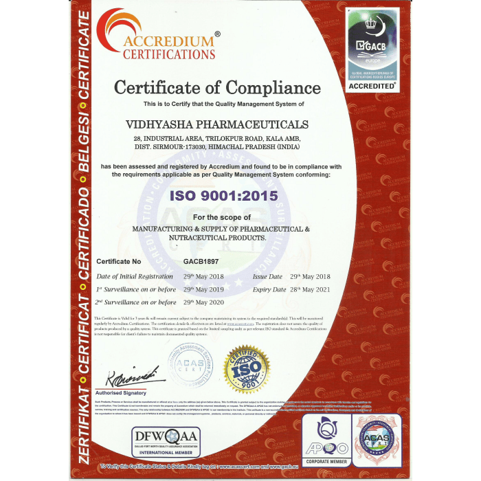 VIDHYASHA-PHRMACEUTICALS-ISO-9001-2015-Certificate